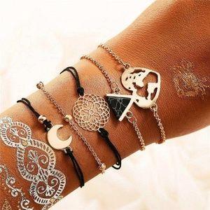 Jewelry - Set of 5 Bohemian Style Bracelets